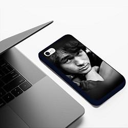 Чехол iPhone 6/6S Plus матовый Виктор Цой цвета 3D-черный — фото 2