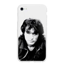 Чехол iPhone 6/6S Plus матовый Кино: Виктор Цой цвета 3D-белый — фото 1