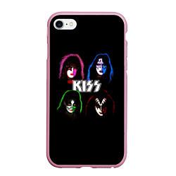 Чехол iPhone 6/6S Plus матовый KISS: Acid Colours цвета 3D-розовый — фото 1