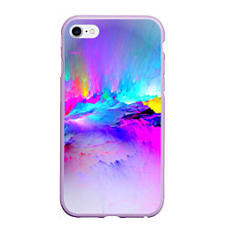 Чехол iPhone 6/6S Plus матовый Абстракция цвета 3D-сиреневый — фото 1