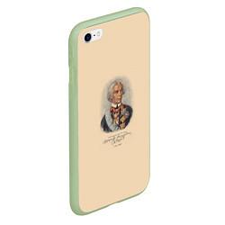 Чехол iPhone 6/6S Plus матовый Александр Суворов 1730-1800 цвета 3D-салатовый — фото 2