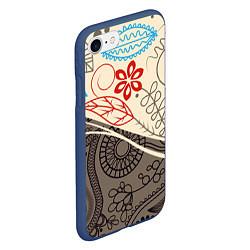 Чехол iPhone 7/8 матовый Прованс цвета 3D-тёмно-синий — фото 2