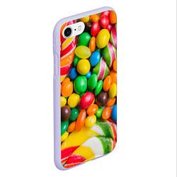 Чехол iPhone 7/8 матовый Сладкие конфетки цвета 3D-светло-сиреневый — фото 2