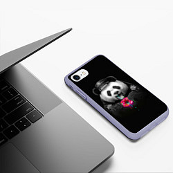 Чехол iPhone 7/8 матовый Donut Panda цвета 3D-светло-сиреневый — фото 2