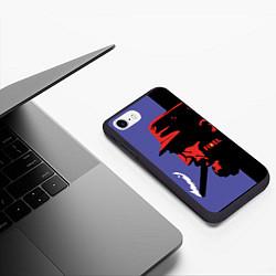 Чехол iPhone 7/8 матовый Fidel цвета 3D-черный — фото 2