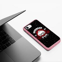 Чехол iPhone 7/8 матовый Hero Gym цвета 3D-баблгам — фото 2