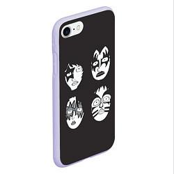 Чехол iPhone 7/8 матовый KISS Mask цвета 3D-светло-сиреневый — фото 2