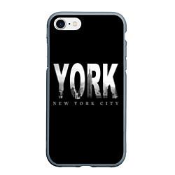 Чехол iPhone 7/8 матовый New York City цвета 3D-серый — фото 1