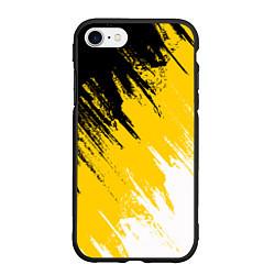Чехол iPhone 7/8 матовый Имперский флаг России цвета 3D-черный — фото 1