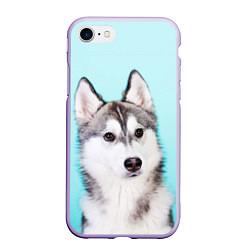 Чехол iPhone 7/8 матовый Blue цвета 3D-светло-сиреневый — фото 1