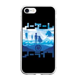 Чехол iPhone 7/8 матовый No Game No Life цвета 3D-белый — фото 1