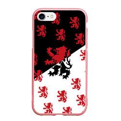Чехол iPhone 7/8 матовый Лев герба Нидерландов цвета 3D-баблгам — фото 1