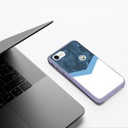 Чехол iPhone 7/8 матовый Manchester City FC: Sport цвета 3D-светло-сиреневый — фото 2