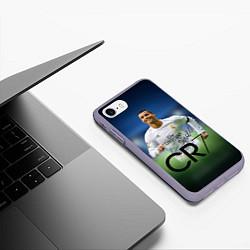 Чехол iPhone 7/8 матовый CR7 цвета 3D-серый — фото 2