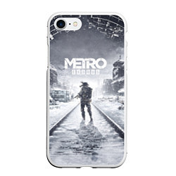 Чехол iPhone 7/8 матовый Metro Exodus цвета 3D-белый — фото 1