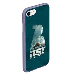 Чехол iPhone 7/8 матовый Drummatix Vega цвета 3D-серый — фото 2