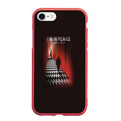 Чехол iPhone 7/8 матовый Twin Peaks: Firewalk with me цвета 3D-красный — фото 1