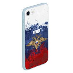 Чехол iPhone 7/8 матовый МВД цвета 3D-голубой — фото 2