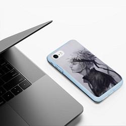 Чехол iPhone 7/8 матовый Наруто Узумаки цвета 3D-голубой — фото 2
