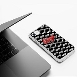 Чехол iPhone 7/8 матовый Ария цвета 3D-белый — фото 2