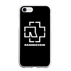 Чехол iPhone 7/8 матовый Rammstein цвета 3D-белый — фото 1