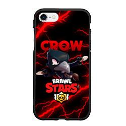 Чехол iPhone 7/8 матовый BRAWL STARS CROW цвета 3D-черный — фото 1
