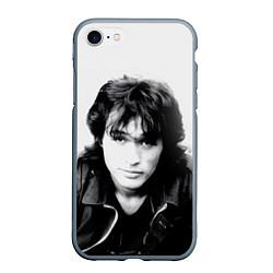 Чехол iPhone 7/8 матовый Кино: Виктор Цой цвета 3D-серый — фото 1