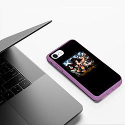 Чехол iPhone 7/8 матовый Kiss Monster цвета 3D-фиолетовый — фото 2