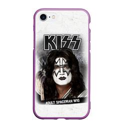 Чехол iPhone 7/8 матовый KISS: Adult spaceman wig цвета 3D-фиолетовый — фото 1
