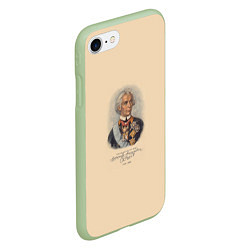 Чехол iPhone 7/8 матовый Александр Суворов 1730-1800 цвета 3D-салатовый — фото 2