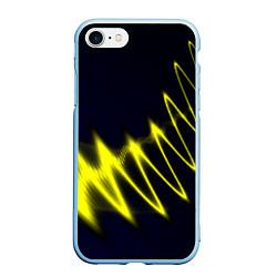 Чехол iPhone 7/8 матовый Молния цвета 3D-голубой — фото 1