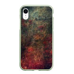Чехол iPhone XR матовый Металлические краски цвета 3D-салатовый — фото 1