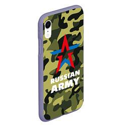 Чехол iPhone XR матовый Russian army цвета 3D-серый — фото 2