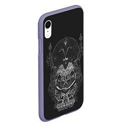 Чехол iPhone XR матовый Wolves in the Throne Room цвета 3D-серый — фото 2