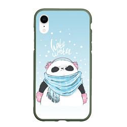 Чехол iPhone XR матовый Hate Winter цвета 3D-темно-зеленый — фото 1