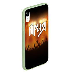 Чехол iPhone XR матовый Ария цвета 3D-салатовый — фото 2