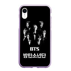 Чехол iPhone XR матовый BTS Group цвета 3D-сиреневый — фото 1