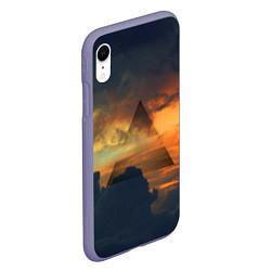 Чехол iPhone XR матовый 30 seconds to mars цвета 3D-серый — фото 2