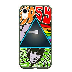Чехол iPhone XR матовый Pink Floyd цвета 3D-темно-зеленый — фото 1