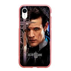 Чехол iPhone XR матовый Доктор кто цвета 3D-баблгам — фото 1
