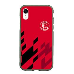 Чехол iPhone XR матовый Sevilla FC цвета 3D-темно-зеленый — фото 1