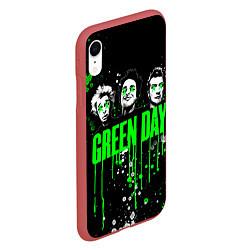 Чехол iPhone XR матовый Green Day: Acid Colour цвета 3D-красный — фото 2