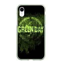 Чехол iPhone XR матовый Green Day: Acid Voltage цвета 3D-салатовый — фото 1