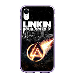 Чехол iPhone XR матовый Linkin Park: Comet цвета 3D-светло-сиреневый — фото 1