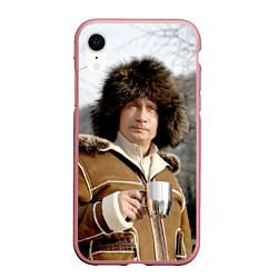 Чехол iPhone XR матовый Путин Владимир цвета 3D-розовый — фото 1