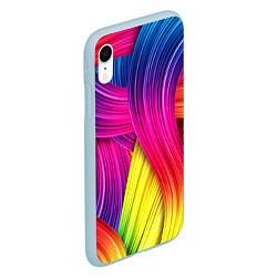 Чехол iPhone XR матовый Абстракция цвета цвета 3D-голубой — фото 2