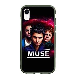 Чехол iPhone XR матовый Muse Band цвета 3D-темно-зеленый — фото 1