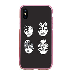 Чехол iPhone XS Max матовый KISS Mask цвета 3D-розовый — фото 1