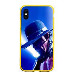 Чехол iPhone XS Max матовый Гробовщик 4 цвета 3D-желтый — фото 1