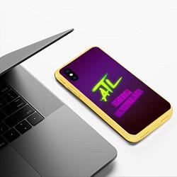 Чехол iPhone XS Max матовый ATL цвета 3D-желтый — фото 2